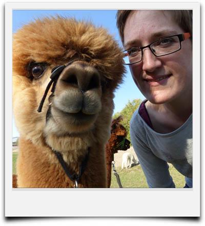 Selfie mit einem Alpaka